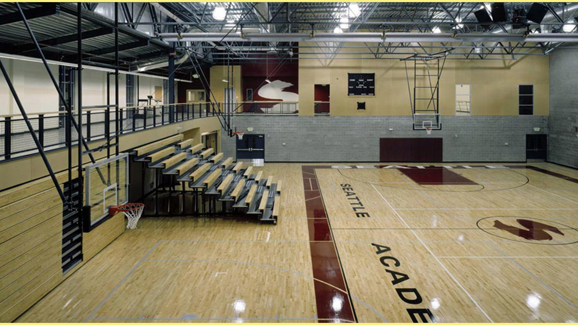 Seattle academy gymnasium swenson say fag t for How to build a basketball gym