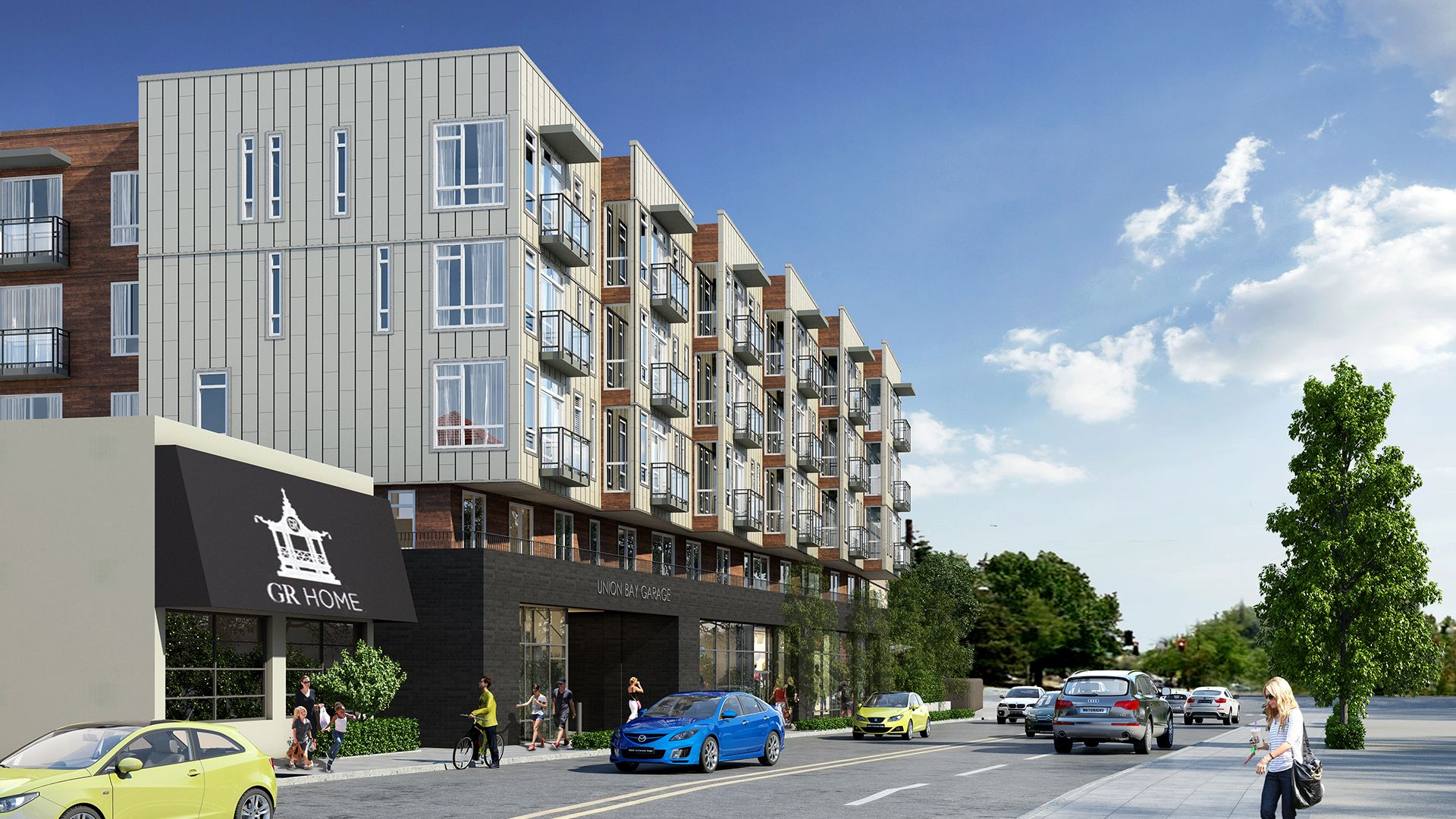 Union Bay Apartments Rendering - view1